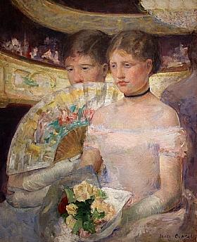 Mary Cassatt, La loge - GRANDS PEINTRES / Cassatt