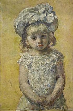 Mary Cassatt, Portrait de fillette - GRANDS PEINTRES / Cassatt