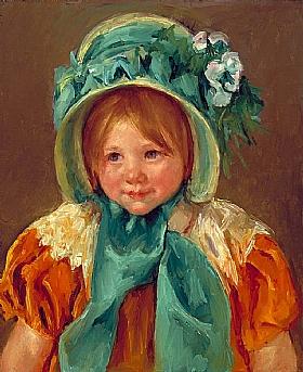 Mary Cassatt, Sara avec un bonnet vert - GRANDS PEINTRES / Cassatt