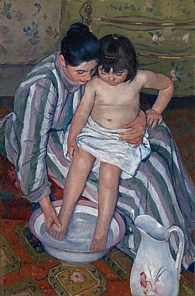 Mary Cassatt, La toilette de l'enfant - GRANDS PEINTRES / Cassatt