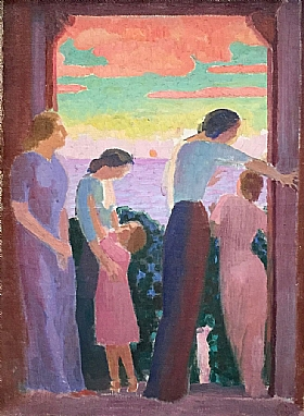 Maurice Denis, Femmes sur un balcon - GRANDS PEINTRES / Denis