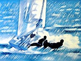 Mers et Océans, régate en voilier - PEINTURES / Tableaux Mer & Voiliers