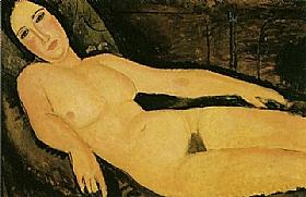 Modigliani, nu sur un divan - GRANDS PEINTRES / Modigliani