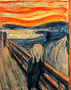 Edvard Munch, Le cri  (version 1 - 1893) - GRANDS PEINTRES / Munch