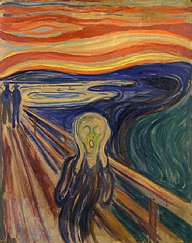 Edvard Munch, Le cri  (version 3 - 1910) - GRANDS PEINTRES / Munch
