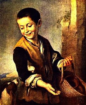 Murillo, Garçon avec un chien - GRANDS PEINTRES / Murillo