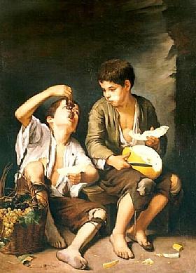 Murillo, Les garçons mangeant - GRANDS PEINTRES / Murillo