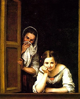 Murillo, femmes au balcon - GRANDS PEINTRES / Murillo