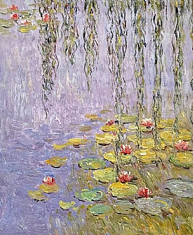 Fleurs et Nature, Nymphéas et saule pleureur - PEINTURES / Tableaux Faune & Flore