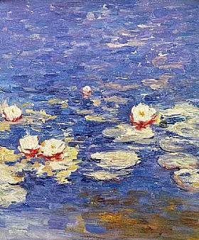 Fleurs et Nature, Nymphéas aux quatre fleurs - PEINTURES / Tableaux Faune & Flore