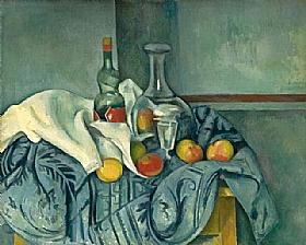 Paul Cézanne, Une bouteille de Peppermint - GRANDS PEINTRES / Cezanne