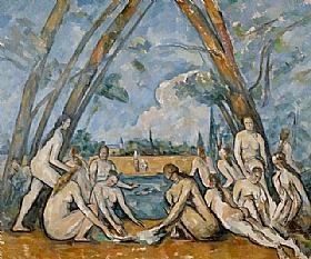 Paul Cézanne, Les grandes baigneuses II - GRANDS PEINTRES / Cezanne