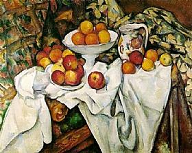 Paul Cézanne, Nature morte pommes et oranges - GRANDS PEINTRES / Cezanne