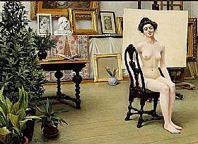 Paul Gustav Fischer, Dans l'atelier de l'artiste - GRANDS PEINTRES / Fischer