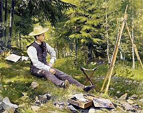 Paul Gustav Fischer, Autoportrait en Plein air - GRANDS PEINTRES / Fischer