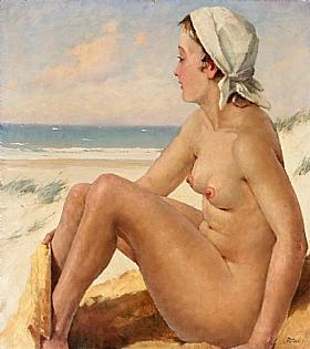 Paul Gustav Fischer, Naiade à la plage - GRANDS PEINTRES / Fischer