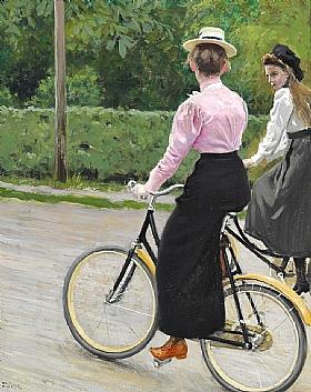 Paul Gustav Fischer, Balade à vélo l'été - GRANDS PEINTRES / Fischer