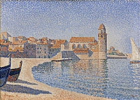 Paul Signac, Collioure - le clocher - GRANDS PEINTRES / Signac