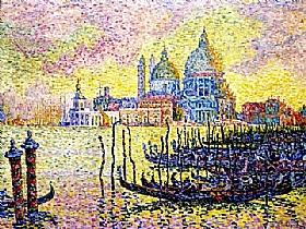 Paul Signac, Le Grand Canal à Venise - GRANDS PEINTRES / Signac