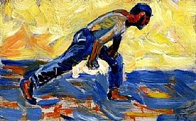 Paul Signac, Le joueur de boules - GRANDS PEINTRES / Signac