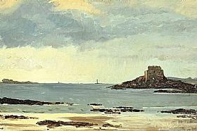 Peder Severin Kroyer, Etude plage de Saint Malo - GRANDS PEINTRES / Kroyer
