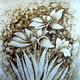 bouquet floral, variations Argent - PEINTURES / Tableaux Faune & Flore