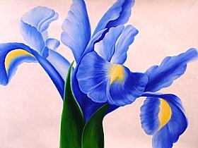 fleurs, Le Lys bleu - PEINTURES / Tableaux Faune & Flore
