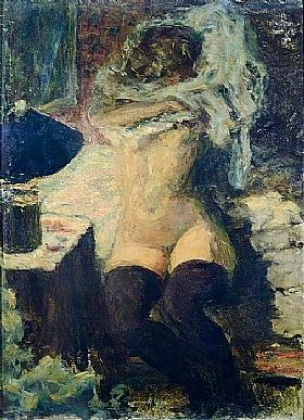 Pierre Bonnard, Femme nue aux bas noirs - GRANDS PEINTRES / Bonnard