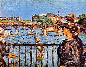Pierre Bonnard, Le Pont des Arts à Paris - GRANDS PEINTRES / Bonnard