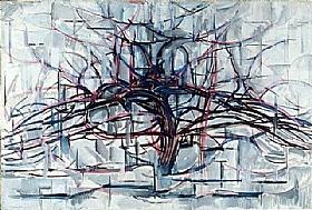 Piet Mondrian, arbre horizontal - GRANDS PEINTRES / Mondrian