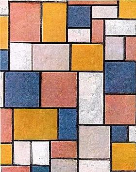 Piet Mondrian, composition 1918 - GRANDS PEINTRES / Mondrian