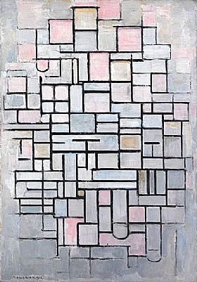 Piet Mondrian, Composition IV - GRANDS PEINTRES / Mondrian