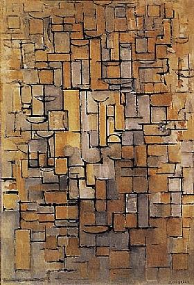 Piet Mondrian, Composition XIV - GRANDS PEINTRES / Mondrian