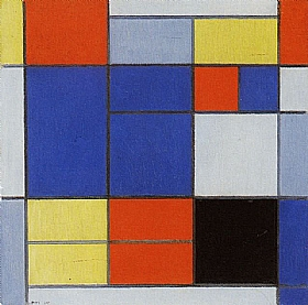 Piet Mondrian, Composition C 1920 - GRANDS PEINTRES / Mondrian