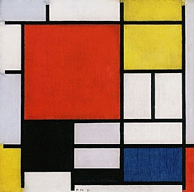 Piet Mondrian, rouge jaune bleu noir - GRANDS PEINTRES / Mondrian