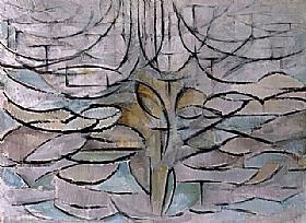 Piet Mondrian, Pommier en fleurs - GRANDS PEINTRES / Mondrian