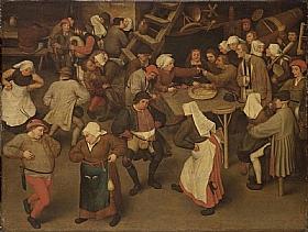 Pieter Bruegel dit l'Ancien, La danse de mariage - GRANDS PEINTRES / Bruegel