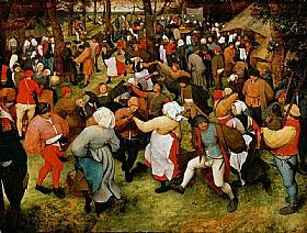 Pieter Bruegel dit l'Ancien, La danse des mariés - GRANDS PEINTRES / Bruegel