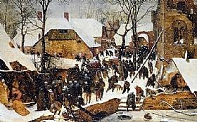 Pieter Bruegel dit l'Ancien, L'adoration des mages - GRANDS PEINTRES / Bruegel