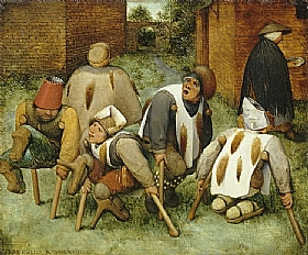 Pieter Bruegel dit l'Ancien, Les mendiants - GRANDS PEINTRES / Bruegel
