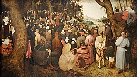 Pieter Bruegel dit l'Ancien, Prédication de Saint Jean Baptiste - GRANDS PEINTRES / Bruegel