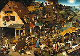 Pieter Bruegel dit l'Ancien, Les proverbes flamands - GRANDS PEINTRES / Bruegel