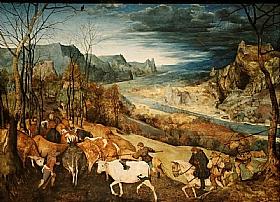 Pieter Bruegel dit l'Ancien, La rentrée des troupeaux - GRANDS PEINTRES / Bruegel
