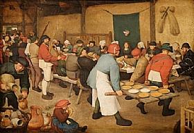 Pieter Bruegel dit l'Ancien, Le repas de noce - GRANDS PEINTRES / Bruegel