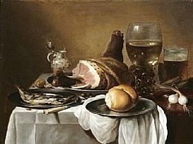 Pieter Claesz, Nature morte du petit déjeuner - GRANDS PEINTRES / Claesz