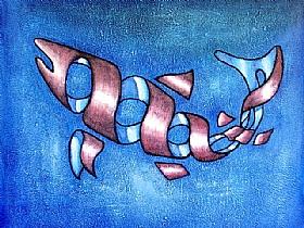 Mer & Océan, Le poisson en ruban - PEINTURES / Tableaux Animaux
