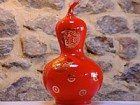 Céramique rouge glacée, courge d'abondance - SCULPTURES / Céramiques