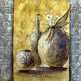 Méditerranée, Pots et carafes or - PEINTURES / Tableaux bien-être