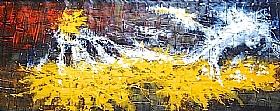 Rayons De Soleil, Fond d'éclats de lumière (2) - GRANDS FORMATS / 70cm x 180cm