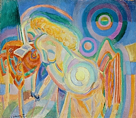 Robert Delaunay, Femme nue lisant - GRANDS PEINTRES / Delaunay